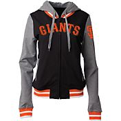 5th & Ocean Women's San Francisco Giants Black/Grey Full-Zip Hoodie
