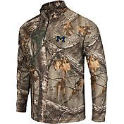 Colosseum Athletics Men's Michigan Wolverines Camo Decoy Quarter-Zip Wind Shirt