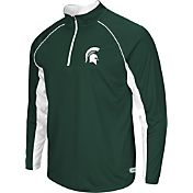 Colosseum Athletics Men's Michigan State Spartans Green Airstream Quarter-Zip Windshirt