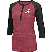 Colosseum Women's Alabama Crimson Tide Crimson Three-Quarter Sleeve Henley Shirt