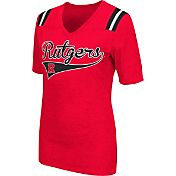 Colosseum Athletics Women's Rutgers Scarlet Knights Scarlet Artistic V-Neck T-Shirt