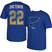 CCM Men's St. Louis Blues Kevin Shattenkirk #22 Vintage Replica Royal Player T-Shirt