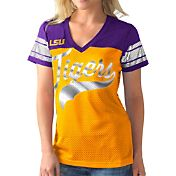 G-III For Her Women's LSU Tigers Gold/Purple Pass Rush T-Shirt