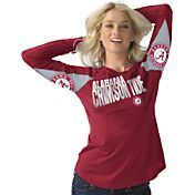 Hands High Women's Alabama Crimson Tide Crimson Handoff Long Sleeve Shirt