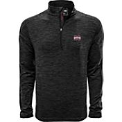 Levelwear Men's Ole Miss Rebels Grey Armour Quarter-Zip Shirt