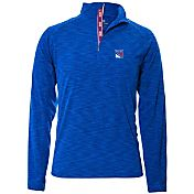 Levelwear Men's New York Rangers Mobility Royal Quarter-Zip Shirt