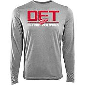 Levelwear Youth Detroit Red Wings Scoreboard Grey Long Sleeve T-Shirt