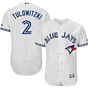 Majestic Men's Authentic Toronto Blue Jays Troy Tulowitzki #2 Home White Flex Base On-Field Jersey