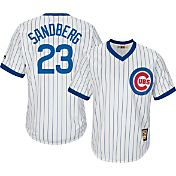 Majestic Men's Replica Chicago Cubs Ryne Sandberg Cool Base White Cooperstown Jersey