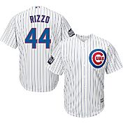 Majestic Men's 2016 World Series Replica Chicago Cubs Anthony Rizzo #44 Cool Base Home White Jersey