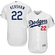 Majestic Men's Authentic Los Angeles Dodgers Clayton Kershaw #22 Home White Flex Base On-Field Jersey