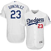 Majestic Men's Authentic Los Angeles Dodgers Adrian Gonzalez #23 Home White Flex Base On-Field Jersey