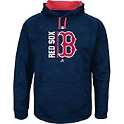 Majestic Men's Boston Red Sox Therma Base On-Field Navy Authentic Collection Pullover Hoodie