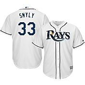 Majestic Men's Replica Tampa Bay Rays Drew Smyly #33 Cool Base Home White Jersey