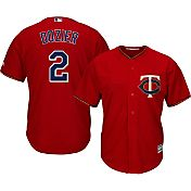 Majestic Men's Replica Minnesota Twins Brian Dozier #2 Cool Base Alternate Red Jersey