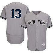 Majestic Men's Authentic New York Yankees Alex Rodriguez #13 Road Grey Flex Base On-Field Jersey