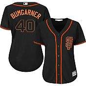 Majestic Women's Replica San Francisco Giants Madison Bumgarner #40 Cool Base Alternate Black Jersey