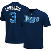 Majestic Youth Tampa Bay Rays Evan Longoria #3 Navy T-Shirt