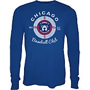 Majestic Threads Men's Chicago Cubs Royal Long Sleeve Shirt