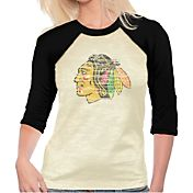 Majestic Threads Women's Chicago Blackhawks Three-Quarter Raglan Sleeve T-Shirt