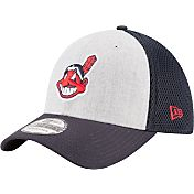 New Era Men's Cleveland Indians 39Thirty Heather Grey Neo Flex Hat