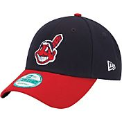 New Era Men's Cleveland Indians 9Forty Navy Adjustable Hat