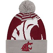 New Era Men's Washington State Cougars Grey/Crimson Logo Whiz 2 Knit Beanie