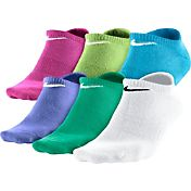 Nike Girls' Dri-FIT Cotton No Show Socks 6 Pack