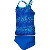 Nike Girls' Flux Spiderback Double Cross Back Tankini 2-Piece Swimsuit