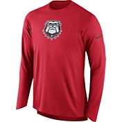Nike Men's Georgia Bulldogs Red ELITE Shooter Long Sleeve Shirt