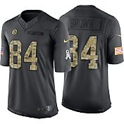 Nike Men's Home Limited Jersey Pittsburgh Steelers Antonio Brown #84 Salute to Service 2016