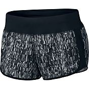 Nike Women's Screen Fuzz Printed Dry Crew Running Shorts