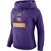 Nike Women's LSU Tigers Purple Tailgate Funnel Hoodie