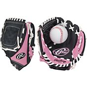 Rawlings 9' Girls' T-Ball Glove w/ Ball