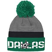 Reebok Men's Dallas Stars Center Ice Cuffed Pom Knit Hat
