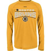 Reebok Youth Boston Bruins Center Ice TNT Grey Performance Long Sleeve T-Shirt