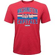 CCM Youth Washington Capitals Classic Stripe Red T-Shirt