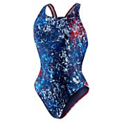 Speedo Girls' Splatter Splash Superpro Back Swimsuit
