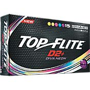 Top Flite Women's D2+ Diva Neon Golf Balls – 15-Pack