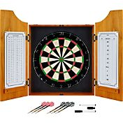 Trademark Games Pro Style Wood Dart Cabinet Set