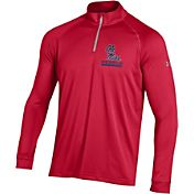Under Armour Men's Ole Miss Rebels Red UA Tech Quarter-Zip Shirt