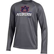 Under Armour Youth Auburn Tigers Grey Long Sleeve Tech Performance T-Shirt