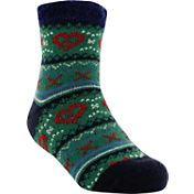 Yaktrax Youth Cozy Cabin Heart Crew Socks