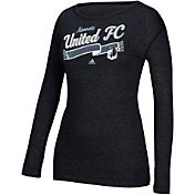 adidas Women's Minnesota United FC Logo Grey Long Sleeve T-Shirt
