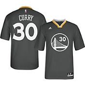 adidas Youth Golden State Warriors Steph Curry #30 Alternate Road Grey Replica Jersey