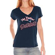 G-III for Her Women's New England Patriots Navy V-Neck T-Shirt