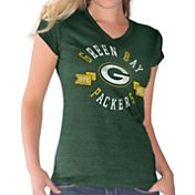 G-III for Her Women's Green Bay Packers Green V-Neck T-Shirt