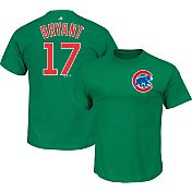 Majestic Men's Chicago Cubs Kris Bryant #17 Green T-Shirt