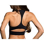 Onzie Women's Black Peek-a-Boo Racerback Sports Bra