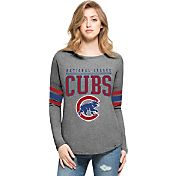 '47 Women's Chicago Cubs Grey Courtside Long Sleeve Shirt